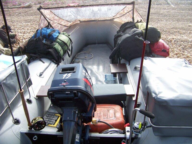 Оборудовать надувную лодку под удилища