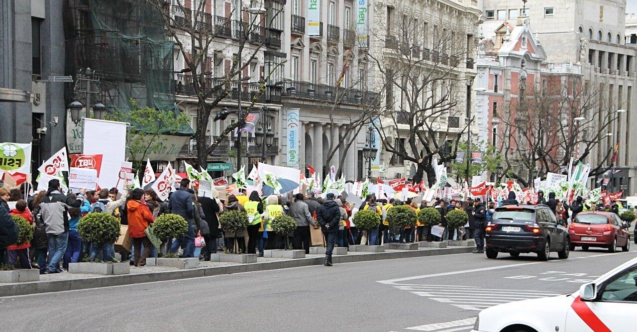 Мадрид. Демонстрация.