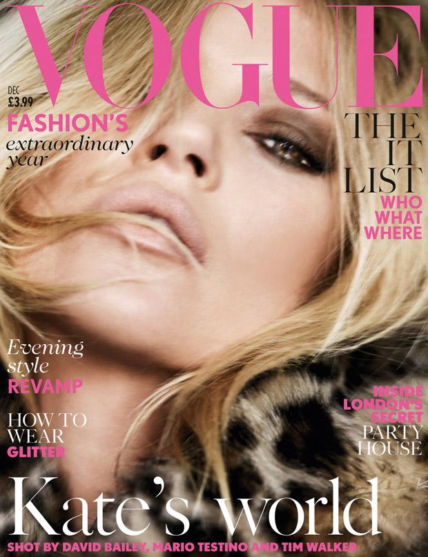 Кейт Мосс (Kate Moss) в журнале Vogue UK (2 фото)