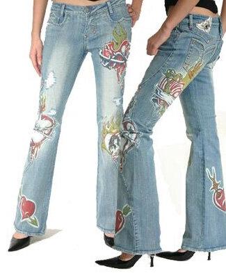 Украшение джинс