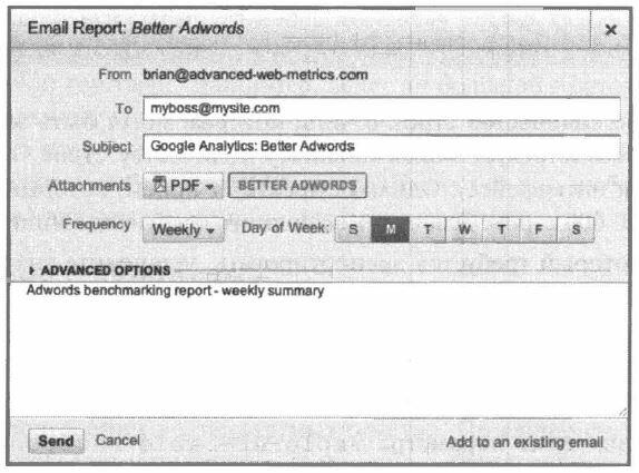 Рис. 4.17. Планирование отчета для экспорта по электронной почте