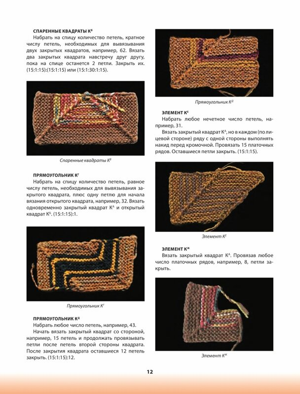 Вязание треугольника спицами пэчворк 11