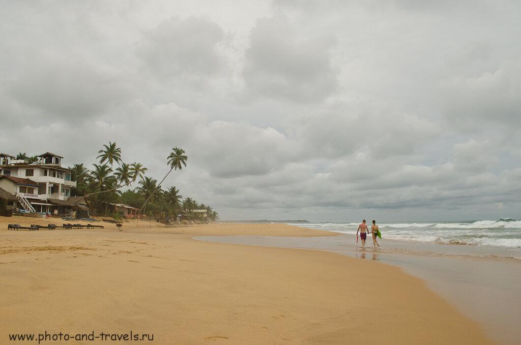 Отдых на Шри-Ланке в мае. Так выглядит пляж Хиккадува. Снято на камеру Nikon D5100 KIT 18-55.