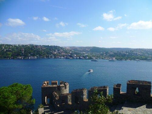 Стамбул - вид из крепости Румели (Istanbul - the view from the fortress of Rumeli).