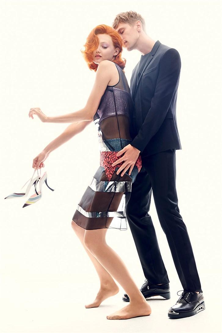 Линдси Виксон и Матиас Лауридсен / Lindsey Wixson & Mathias Lauridsen - Romeo & Juliet by Max von Gumppenberg & Patrick Bienert in Harper's Bazaar US november 2013