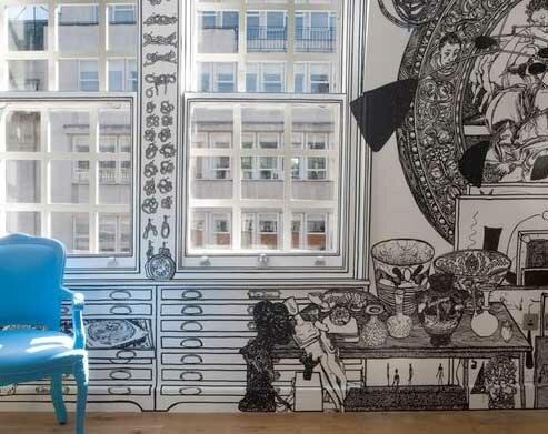 Альтернатива настенным стикерам - интерьерный рисунок