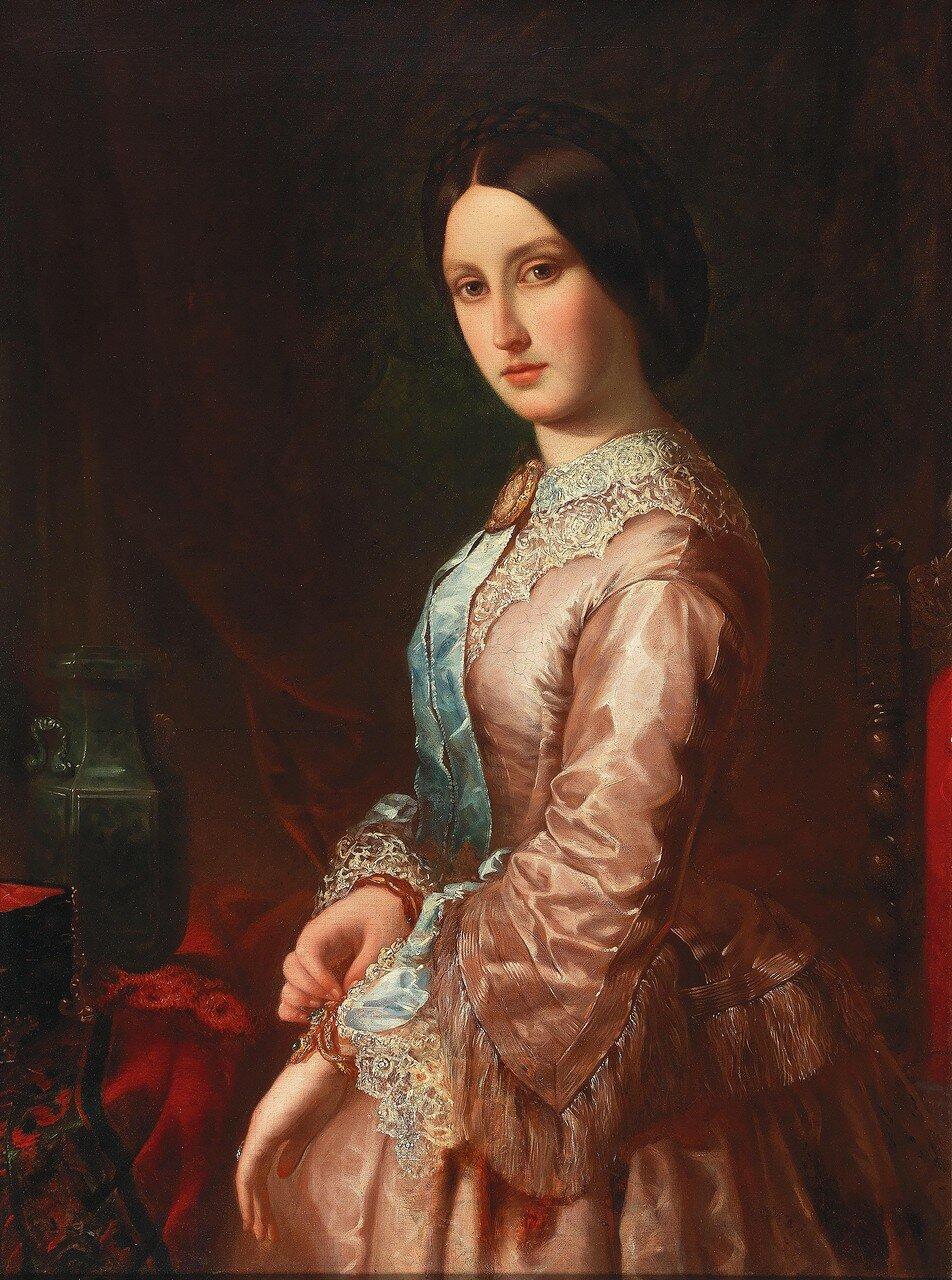 Franz Xaver Winterhalter Umkreis(1805-1873) Portrait einer jungen Dame