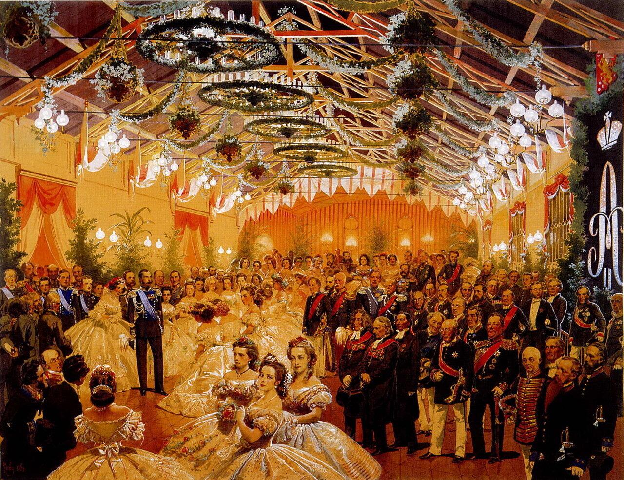 Бал в честь императора Александра II, организованный городом Гельсингфорсом в сентябре 1863 г. в здании железнодорожного вокзала