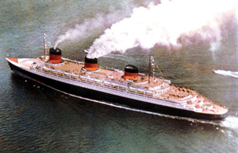 On 3 June 1935 the spectacular NORMANDIE made her maiden arrival into New York Harbor.jpg
