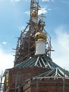 Строительство храма в селе Рябчи. 15.06.2014г
