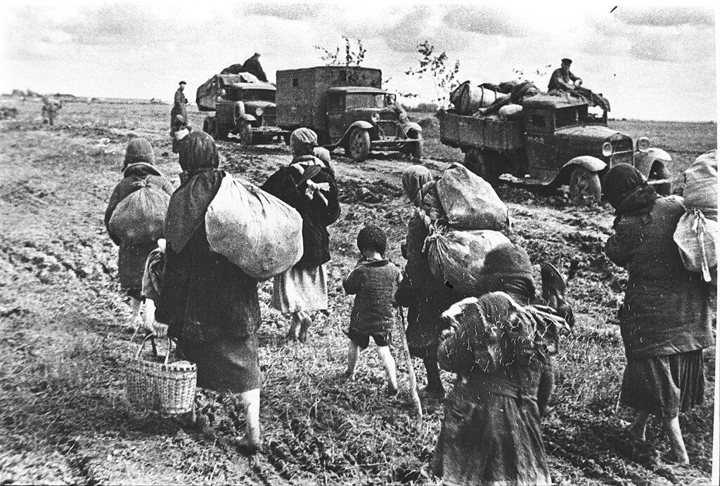 Советские беженцы.