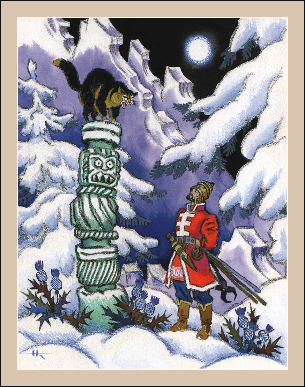 Book Graphics: Russian folk tales. Illustrator Nikolay Kochergin.