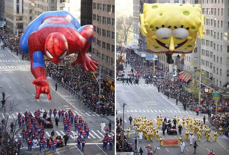 Парад на День Благодарения в Нью-Йорке (16 фото)