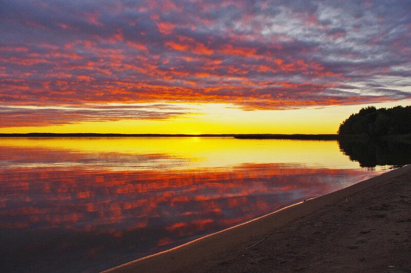 Краски вечернего озера