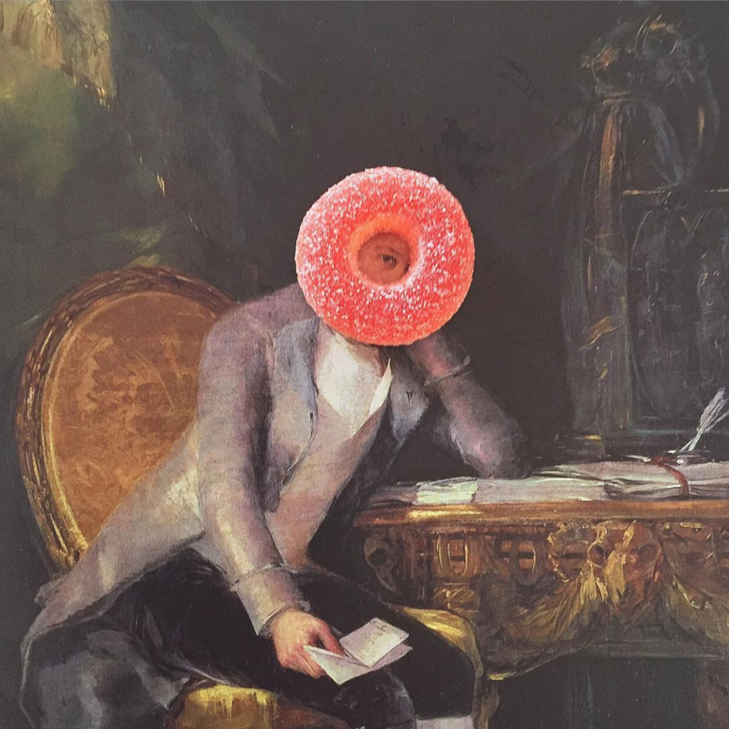 Amusing Instagram of Artworks Decorated With Candy (13 pics)