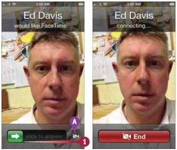 Когда ваш iPhone принимает запрос FaceTime и на его экране отображаются данные звонящего
