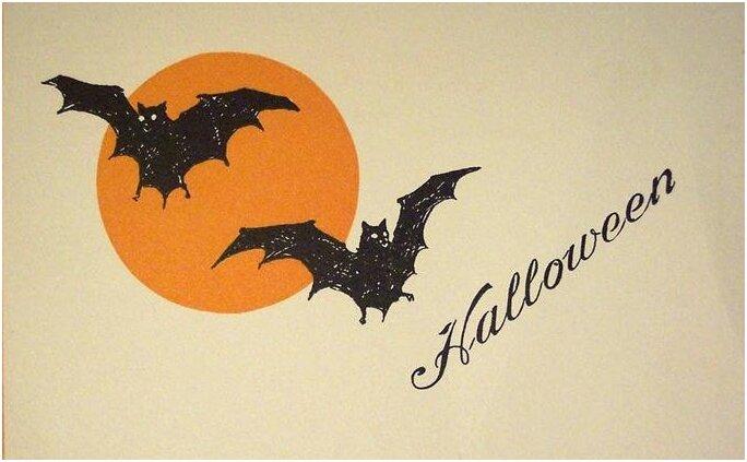 Открытки на хэллоуин рисунок 80