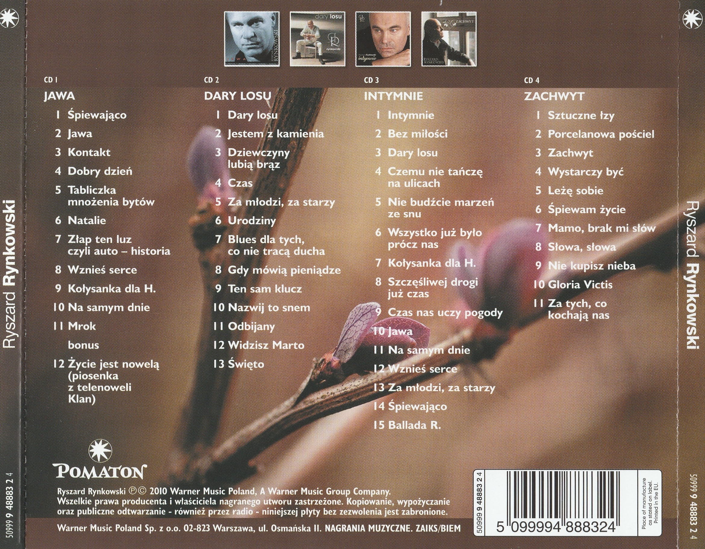 Ryszard Rynkowski - 4CD (1997-2009) - 2010 [lossless] - Âñå