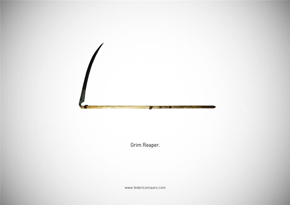 Знаменитые клинки, ножи и тесаки культовых персонажей / Famous Blades by Federico Mauro - The Grim Reaper