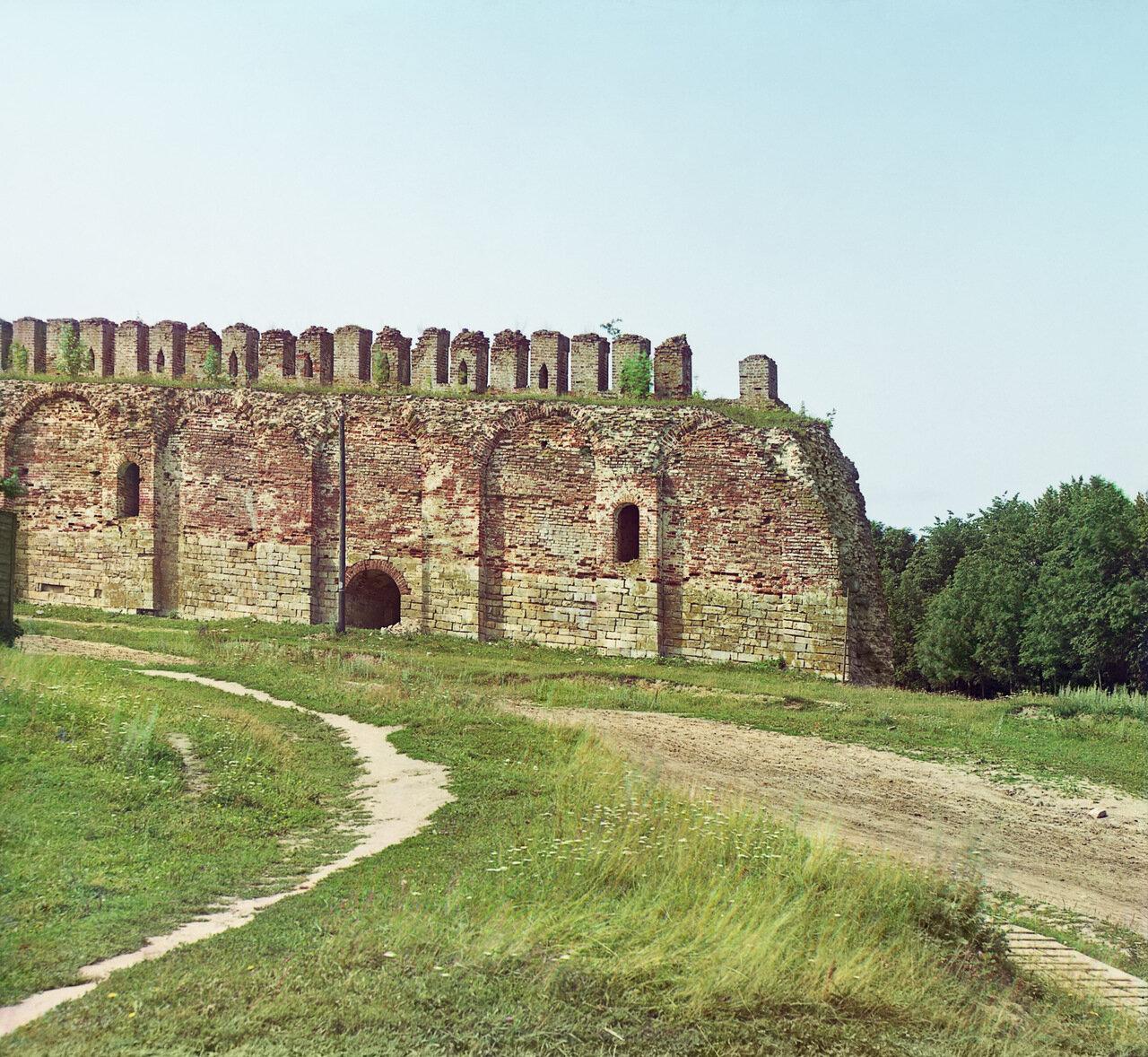 Часть крепостной стены на Казанской горе
