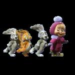 Детский клипарт «Маша и Медведь»