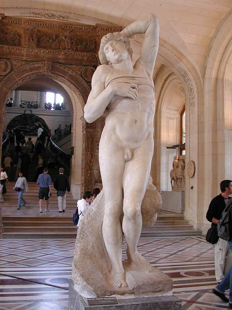 Dying slave, (1513-16) Michelangelo, Louvre(1)