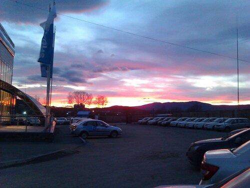 Закат из окон Владомира