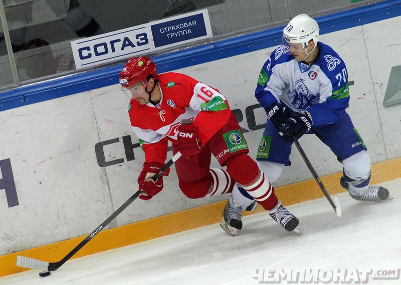 «Спартак» vs «Нефтехимик» 4:2 чемпионат КХЛ 2013-2014 (Фото)