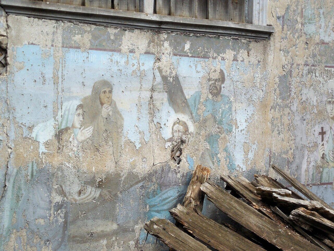 Частично сохранившаяся настенная роспись