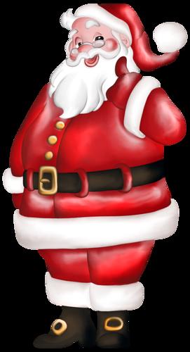 Санта Клаус считает, что все у нас будет прекрасно в Новом году открытка поздравление картинка