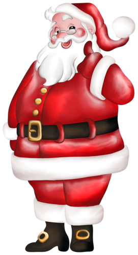 Санта Клаус вважає, що все у нас буде чудово у Новому році листівка фото привітання малюнок картинка