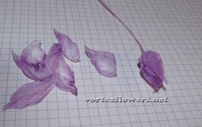Как сделать цветок из ткани своими руками. Выкройка (схема) георгина (георгины).