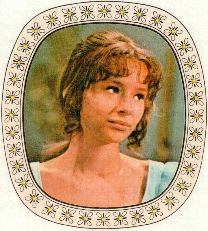 Переводная картинка из ГДР девушка Jaroslava Schallerova 1974