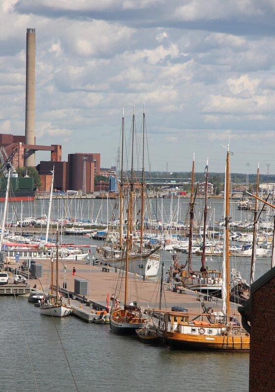 Helsinki. Sailing pier Halkolaituri
