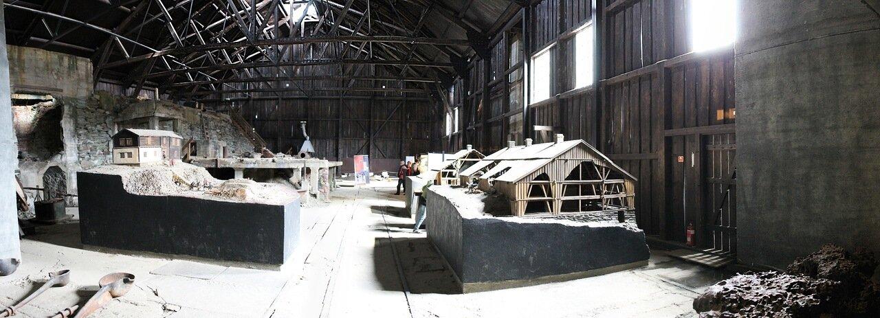 Рёрус, музей Горного  дела и металлургии, Røros, the Museum of cppper mining and metallurgical, panorama