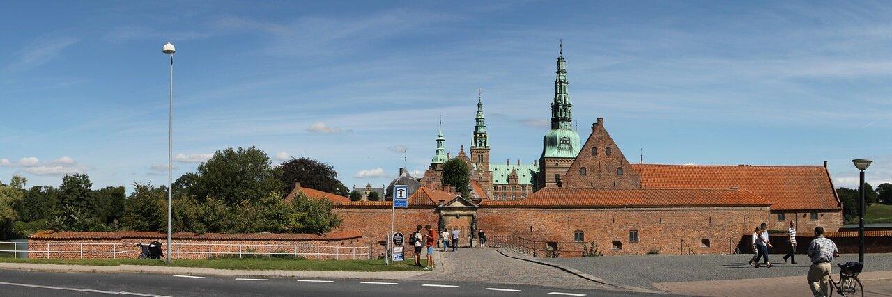 Замок Фредериксборг. Frederiksborg Slot, panorama