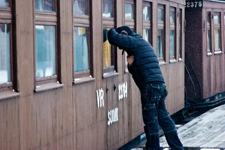 Старинная железная дорога в Порвоо.