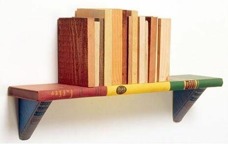 Полки из книг