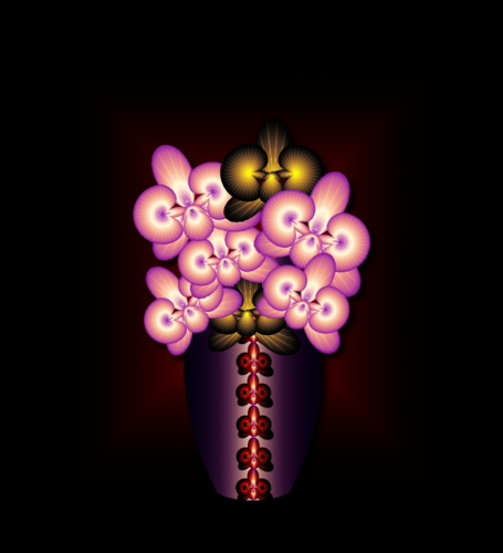 Орхидеи в вазе.