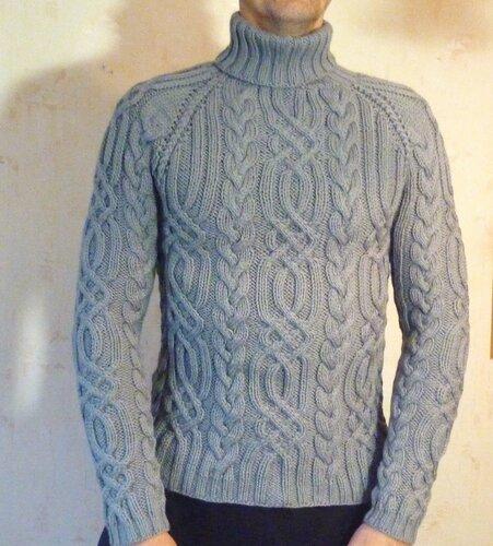 «свитер мужской,вязание на