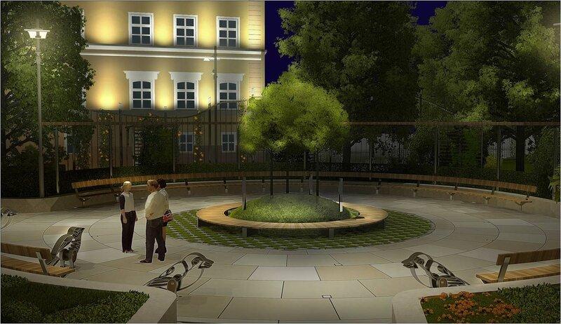 Проект реконструкции сквера на площади Разгуляй. Рисунок 11
