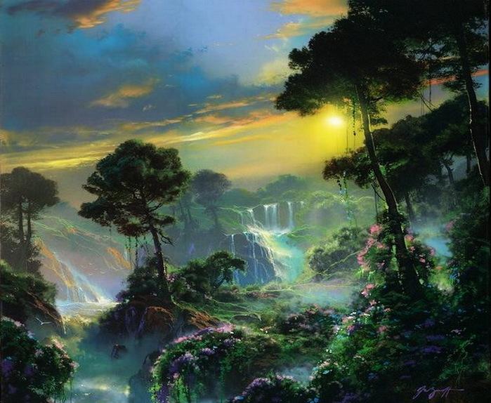 Всю мощь земли увидеть можно... Придуманный мир Dale Terbushа. Горные ландшафты