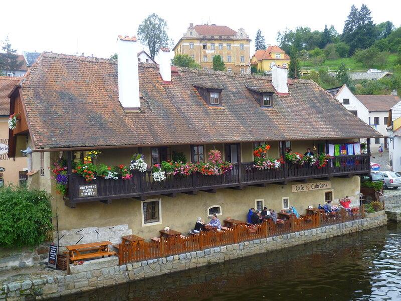 Чехия, Чески-Крумлов – кафе (Czech Republic, Cesky Krumlov – cafe)