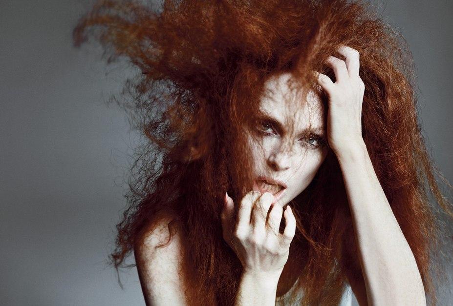 модель Julianne Moore / Джулианна Мур, фотографы Inez van Lamsweerde and Vinoodh Matadin
