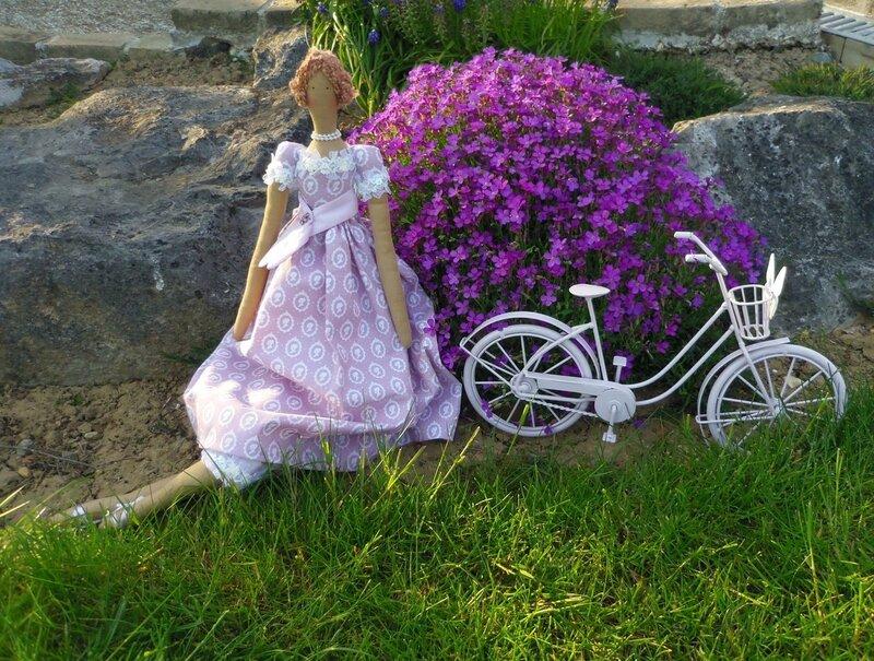 тильда и велосипед