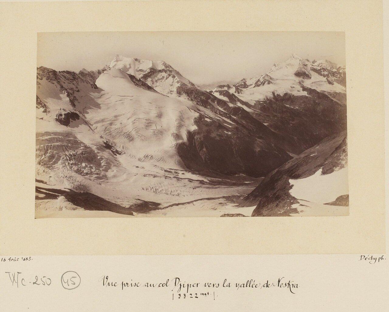 Вид на перевал Джиппер из долины Нескра