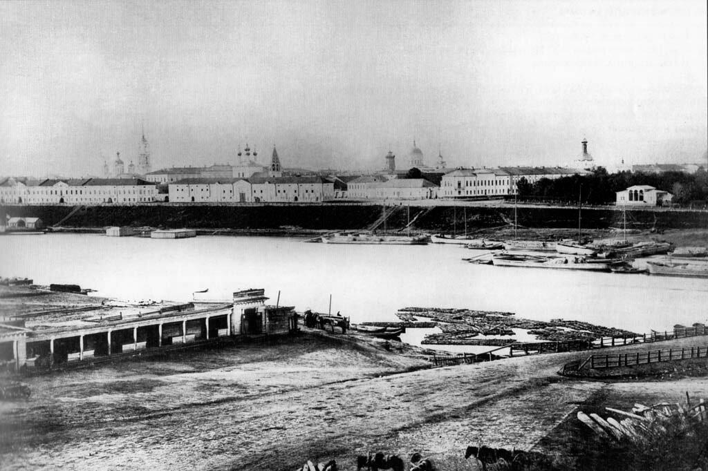 Вид Волги на Звезду. 1867