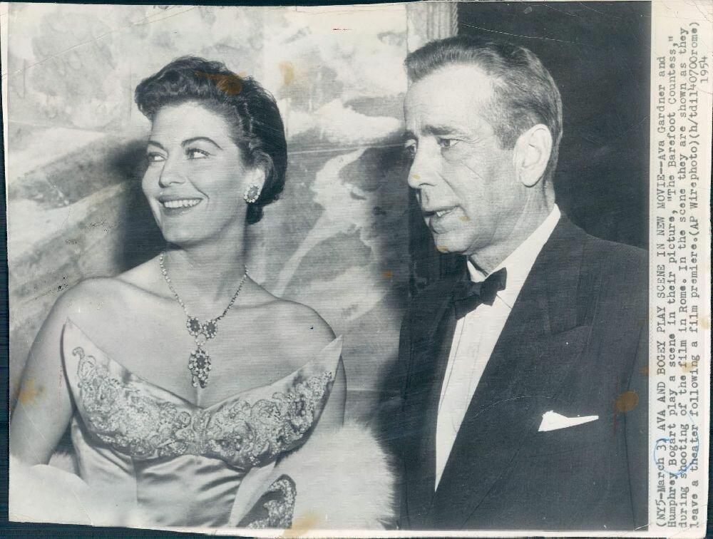 1954. Хамфри Богарт и Эва Гарднер в Риме