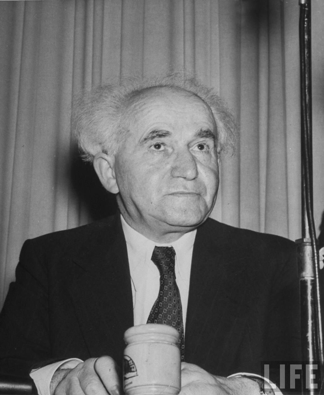 1948. Премьер-министр Израиля Давид Бен-Гурион