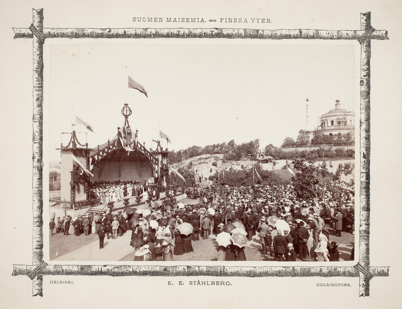 Концерт на открытой сцене в обсерватории в Турку в 1892 году.